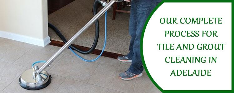 Our complete process for tile and grout cleaning