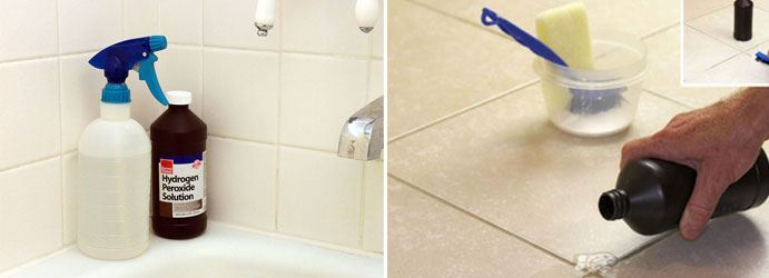 Tiles Cleaning With Hydrogen Peroxide
